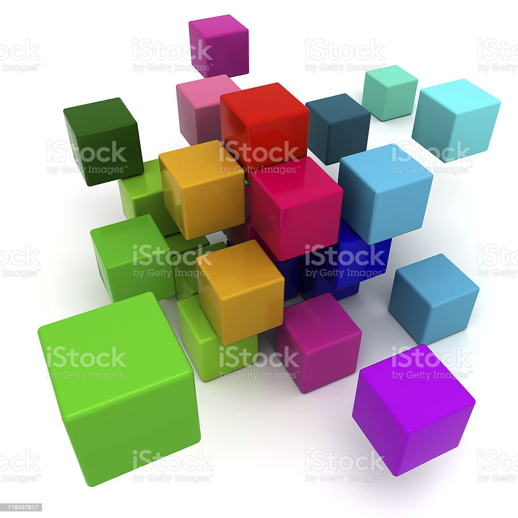 Colorful blocks background royalty-free stock photo