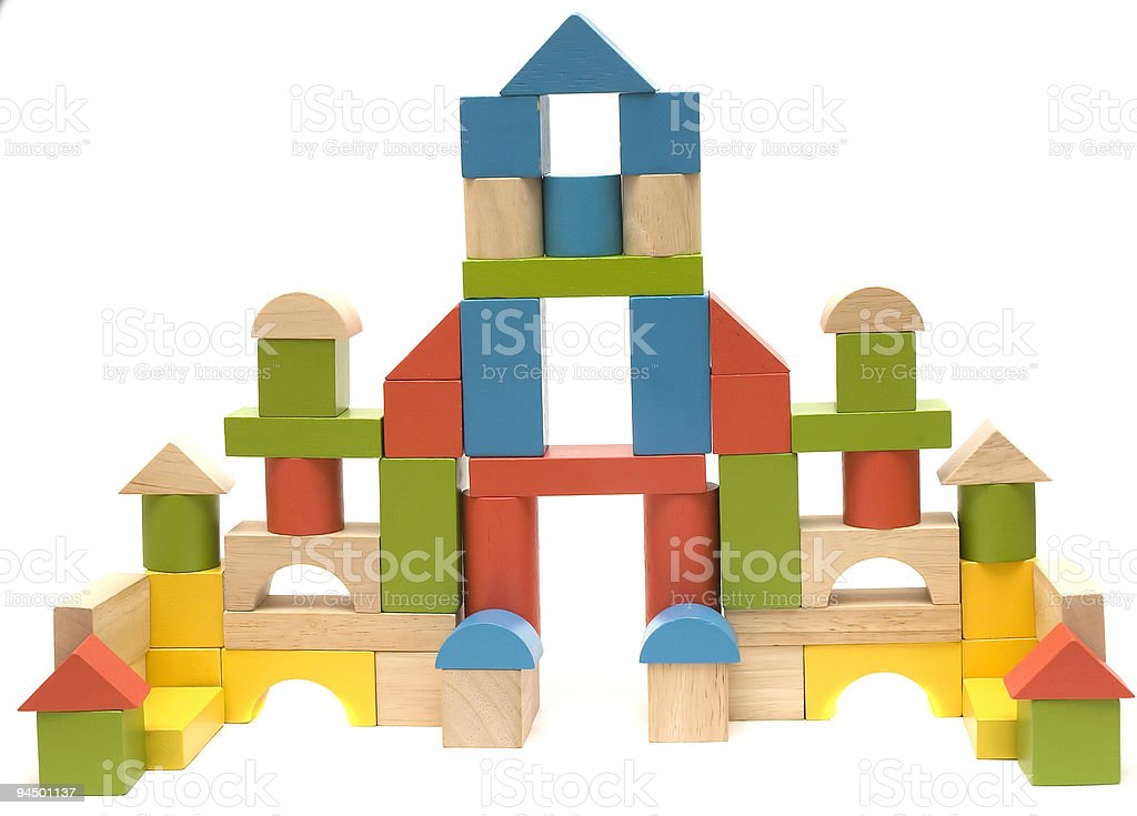 colorful blocks royalty-free stock photo