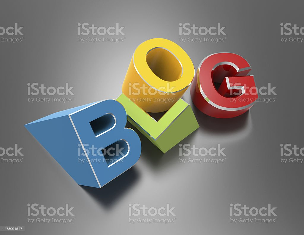 colorful blog royalty-free stock photo