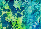 Colorful blue and green textured background