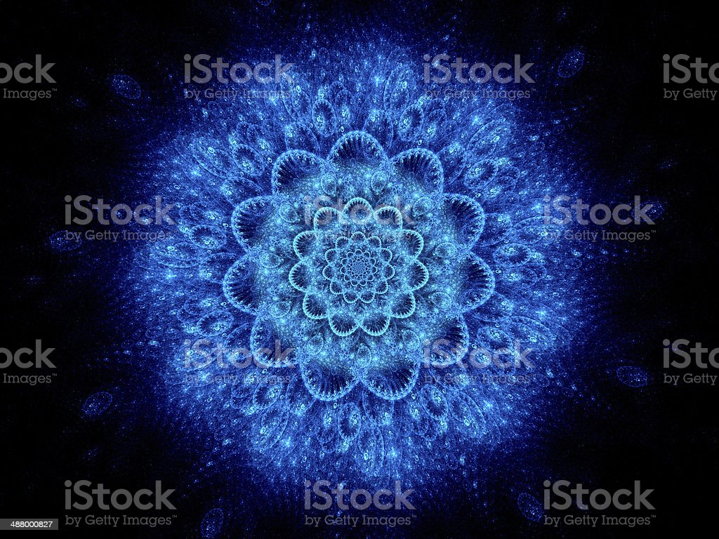 Colorful blue space mandala abstract background royalty-free stock photo