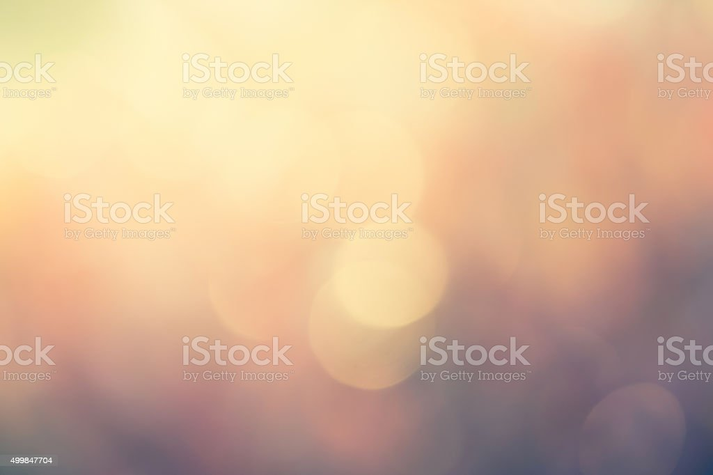 colorful blurred bokeh background with retro effect stock photo