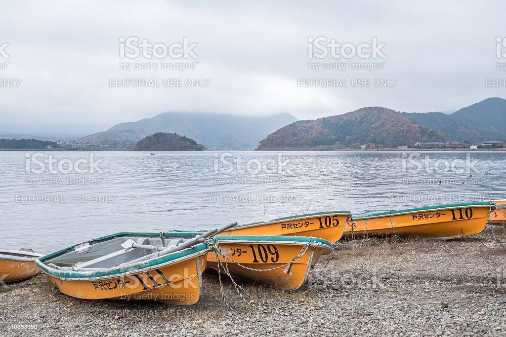 colorful boats stock photo