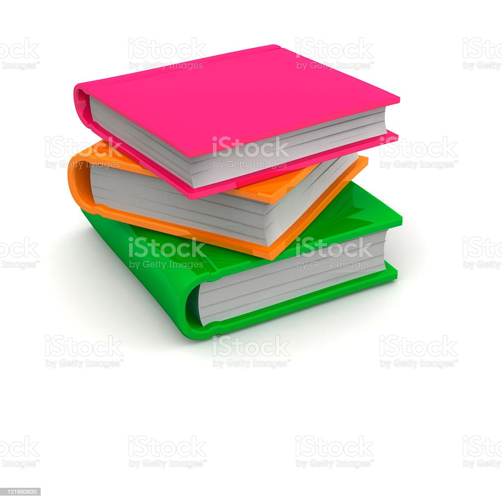3D Colorful Books royalty-free stock photo