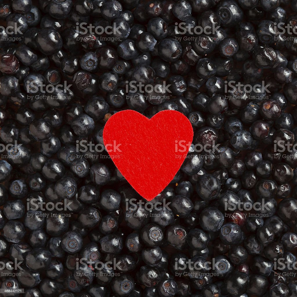 Colorful border frame made of berries royalty-free stock photo