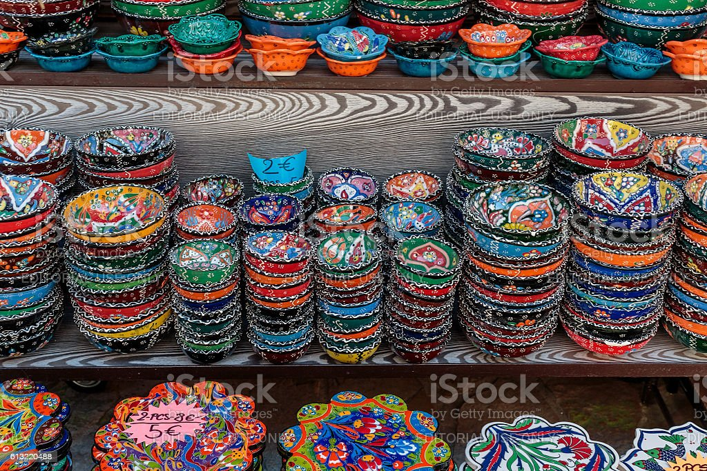 Colorful bowls stock photo