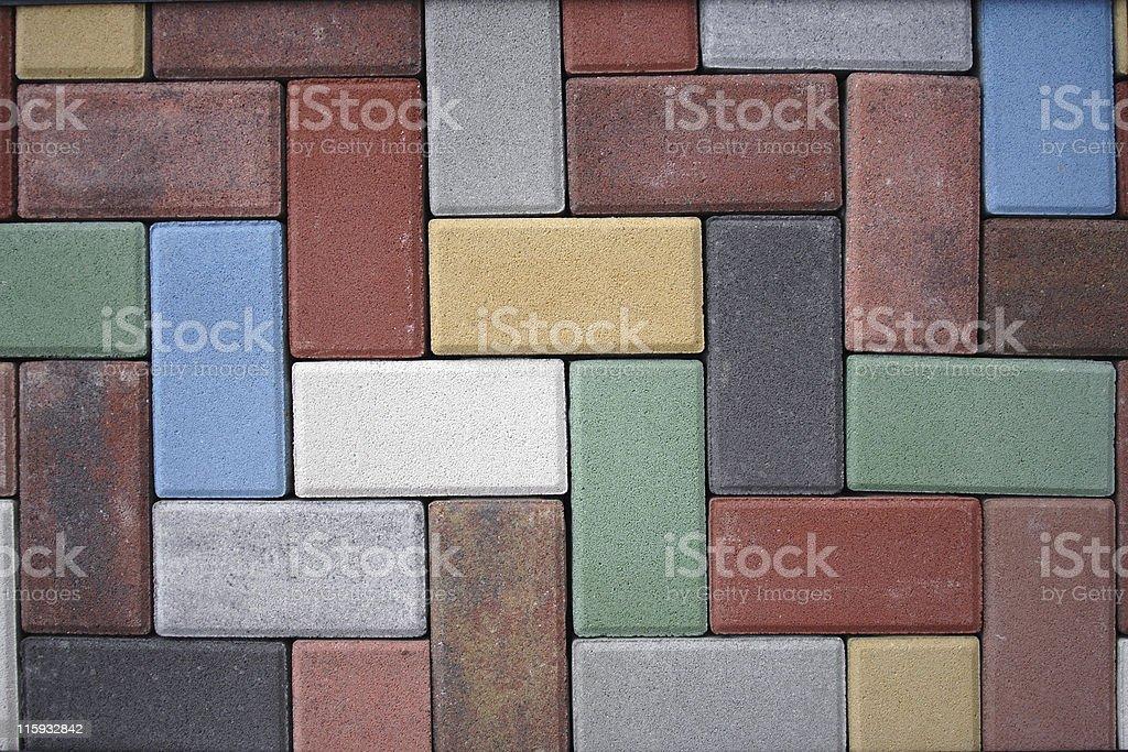 Colorful brick wall royalty-free stock photo
