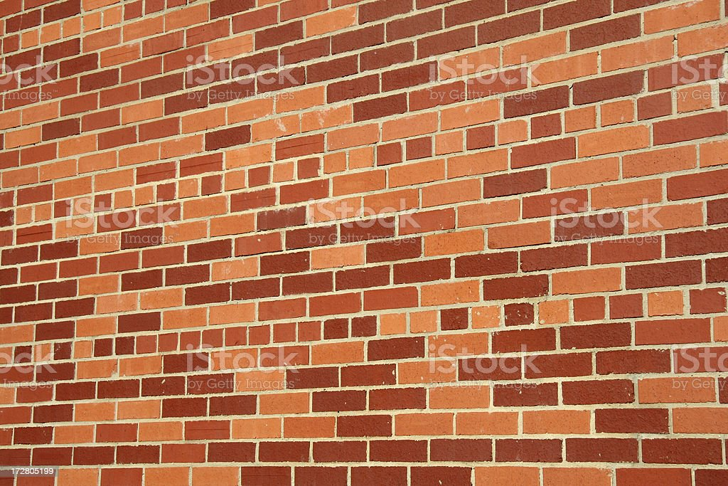 Colorful Brick Wall stock photo