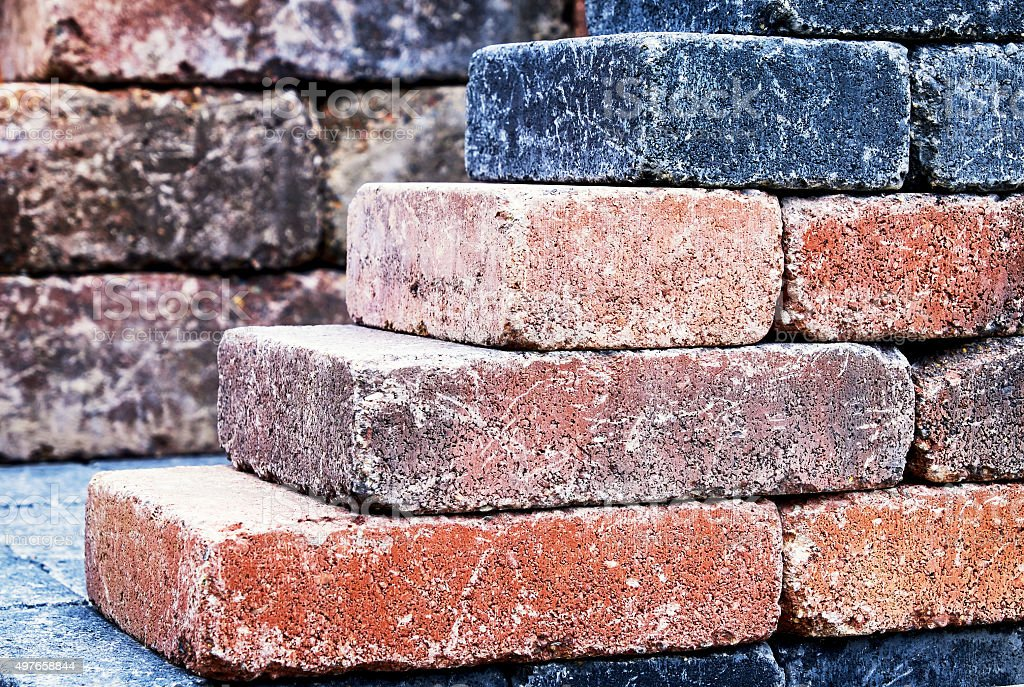 colorful bricks stock photo