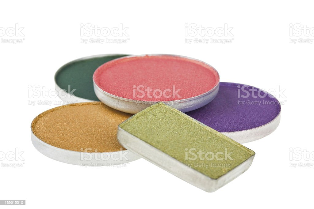 Colorful bright eye shadow royalty-free stock photo