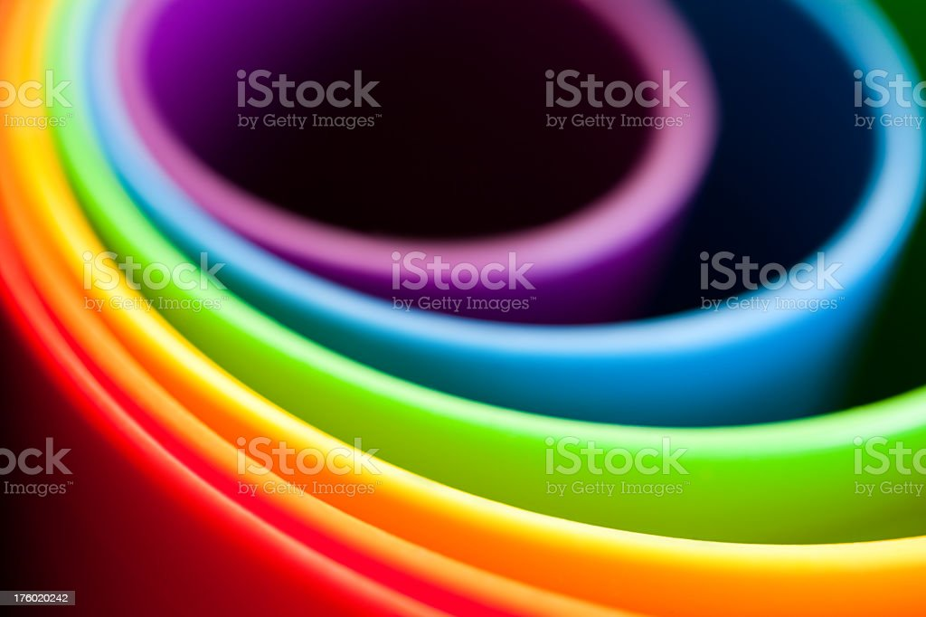 Colorful buckets in different sizes royalty-free stock photo