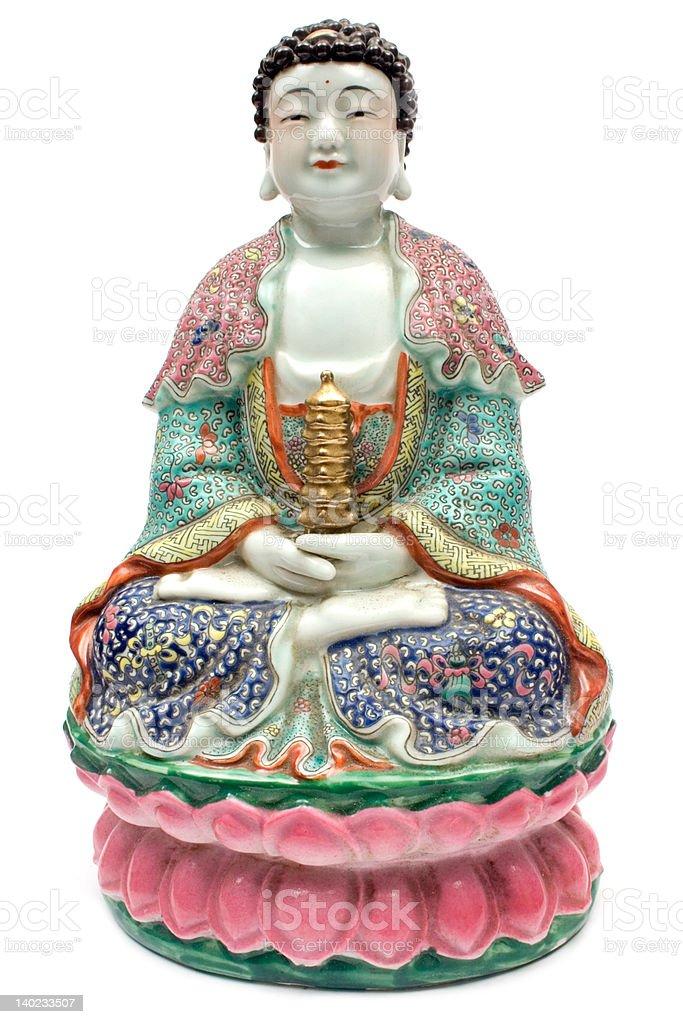 Colorful Buddha royalty-free stock photo