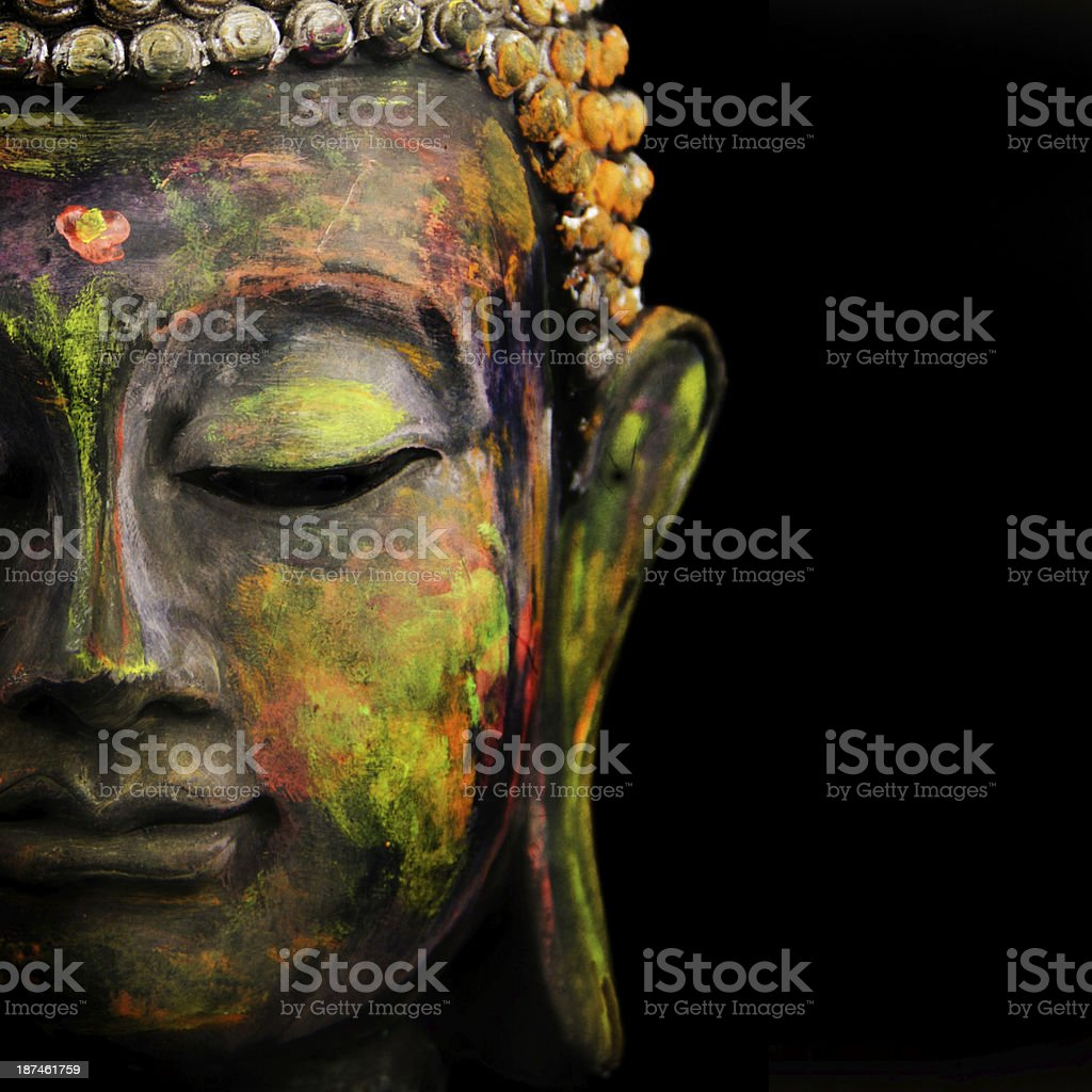 Colorful Buddha stock photo