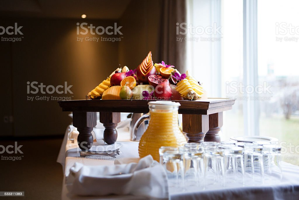 Colorful buffet. stock photo