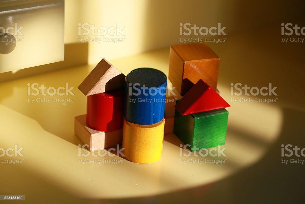 Colorido Bloque de construcción foto de stock libre de derechos