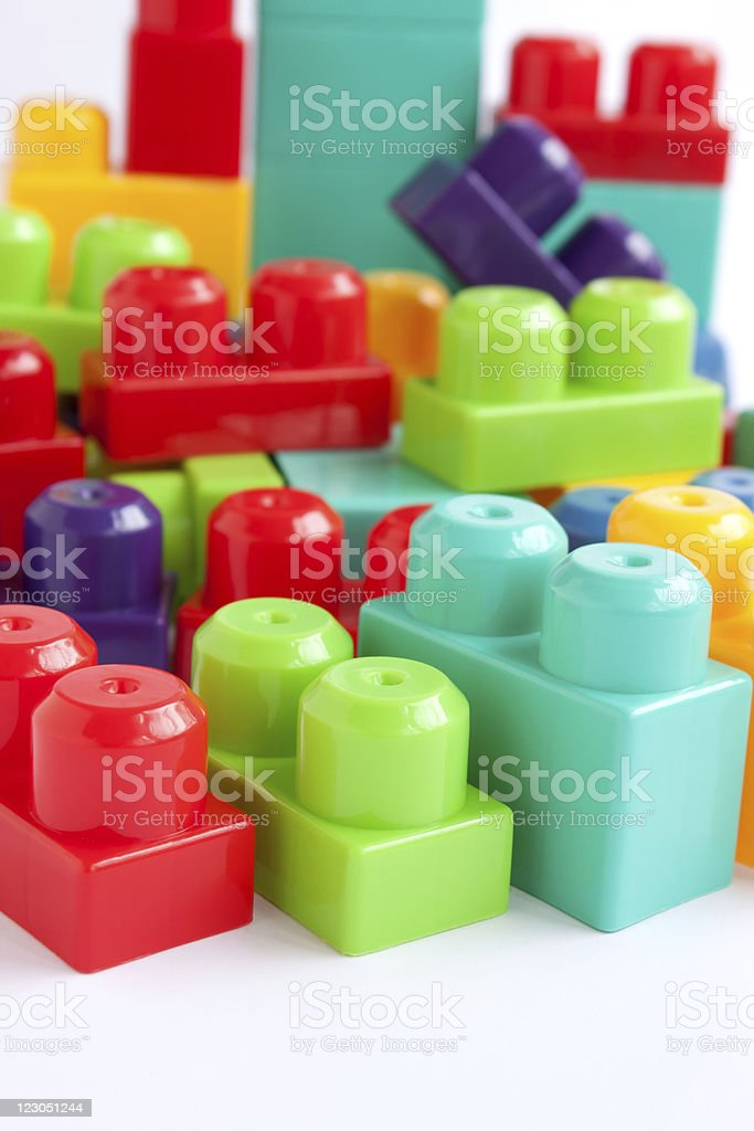 Colorful building blocks royalty-free stock photo
