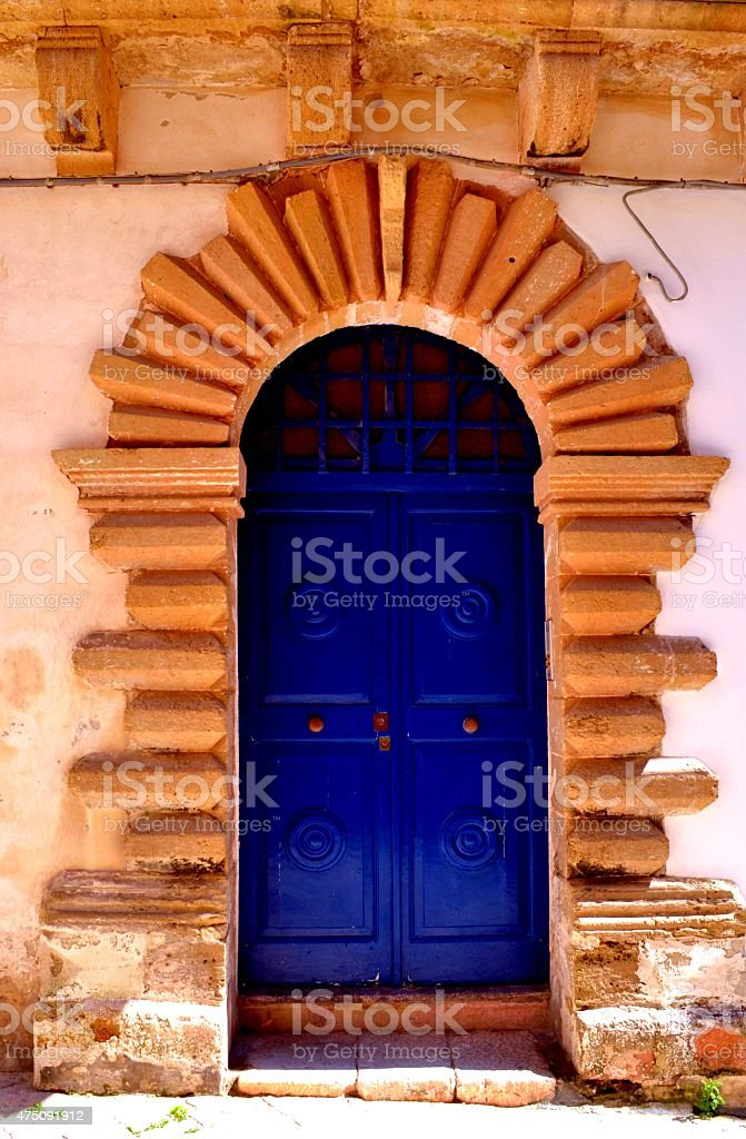 Colorful buildings in Lecce's old town stock photo