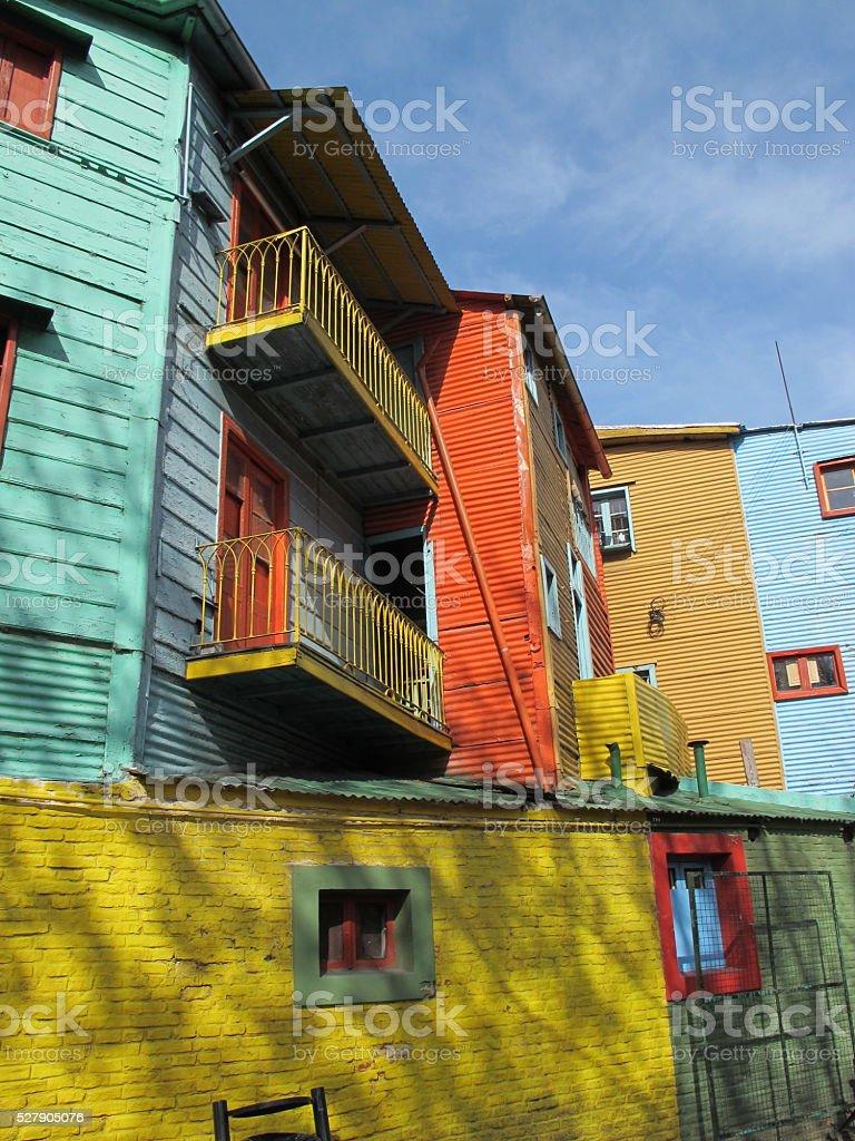 Colorful buildings of La Boca stock photo