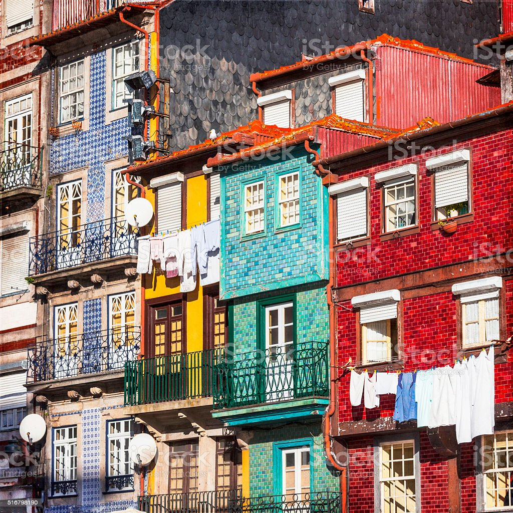 colorful buildings of Porto. Portugal stock photo
