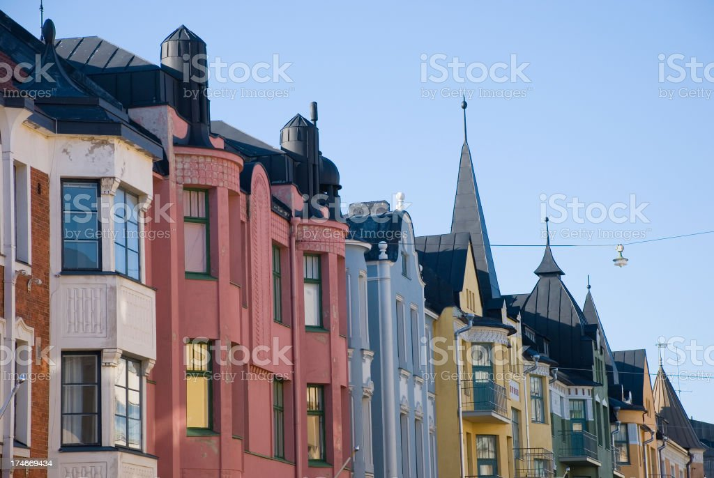 Colorful Buildings royalty-free stock photo