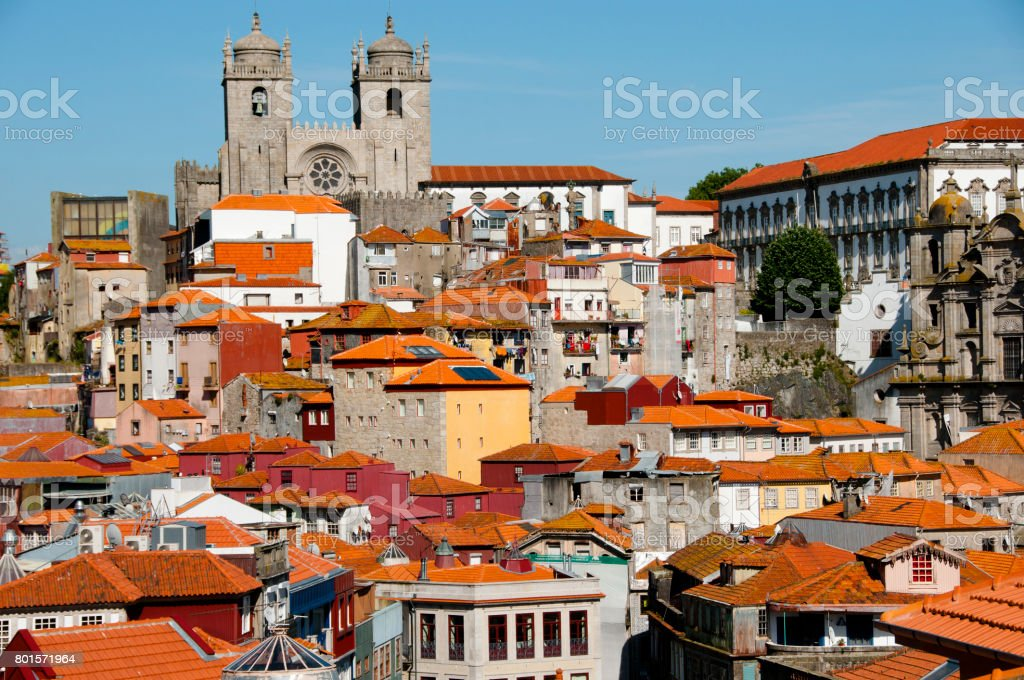 Colorful Buildings - Porto - Portugal stock photo