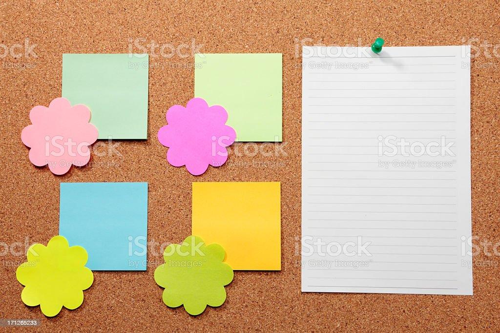 Colorful bulletin board royalty-free stock photo