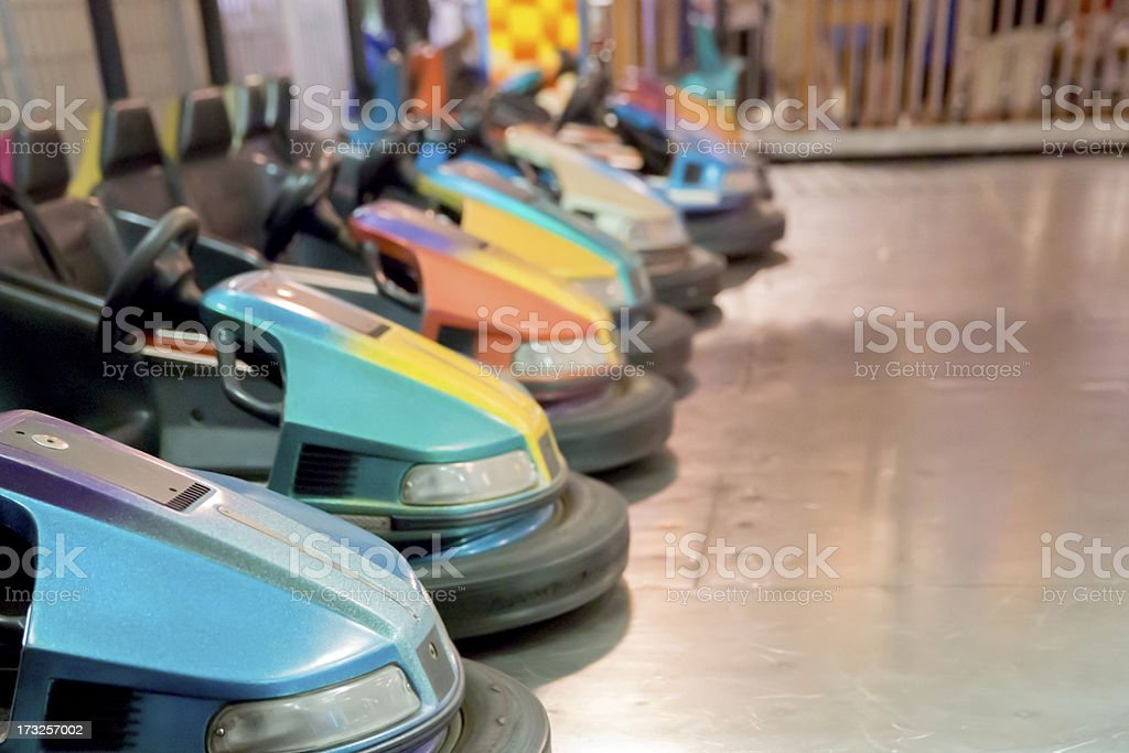 Colorful Bumper Cars royalty-free stock photo