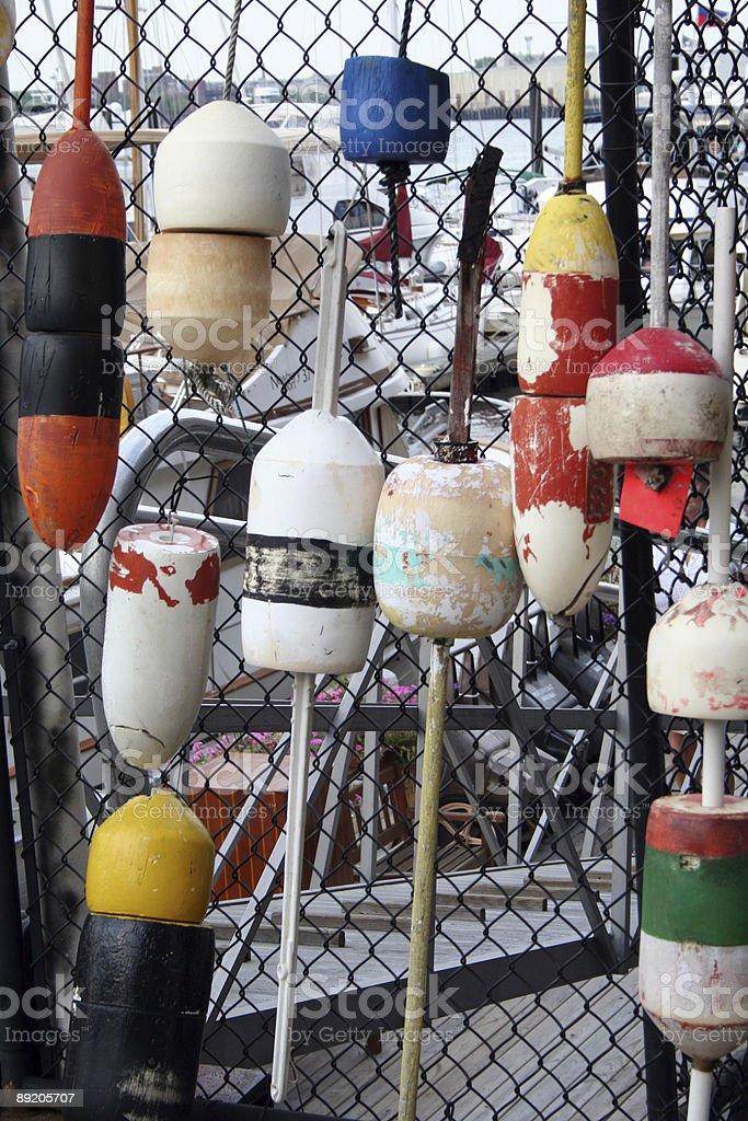 Colorful buoys stock photo