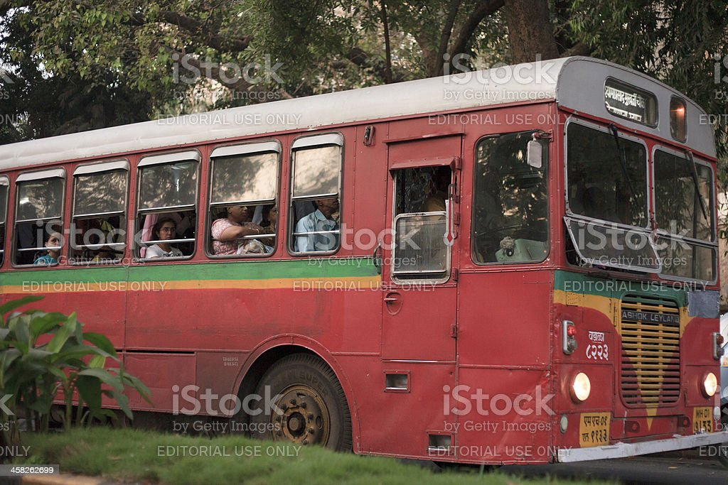 Colorful bus royalty-free stock photo