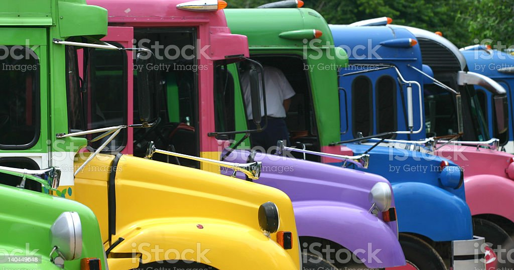 Colorful Buses royalty-free stock photo