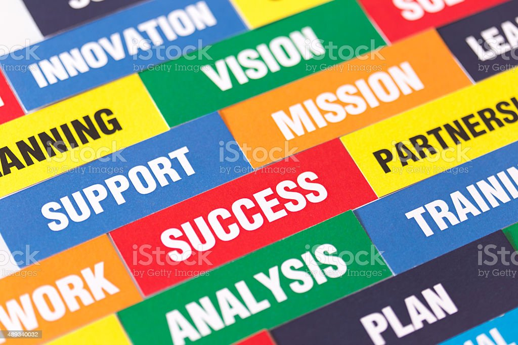 Colorful Business Keywords Background stock photo