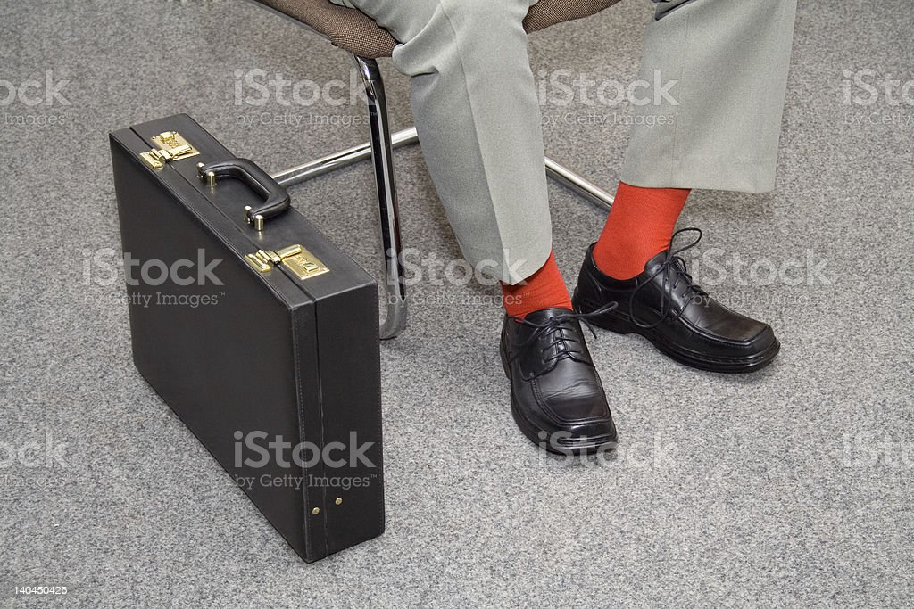 Colorful businessman waiting royalty-free stock photo