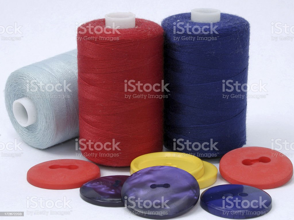 colorful buttons and reels royalty-free stock photo