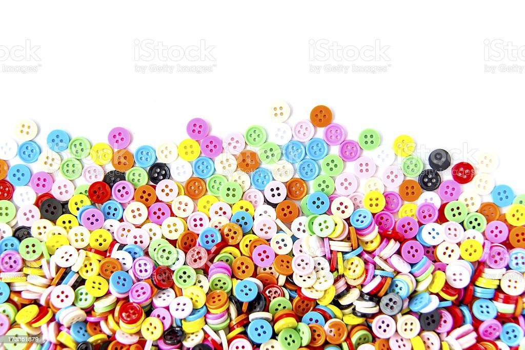 Colorful buttons,  Clasper on white background royalty-free stock photo