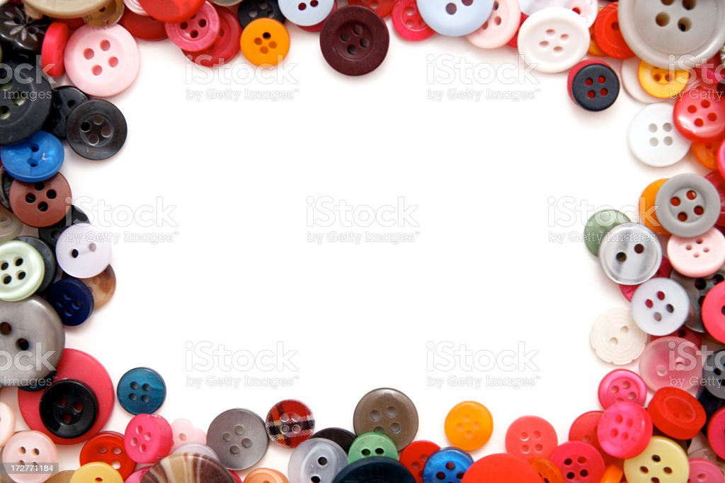 Colorful Buttons Frame royalty-free stock photo