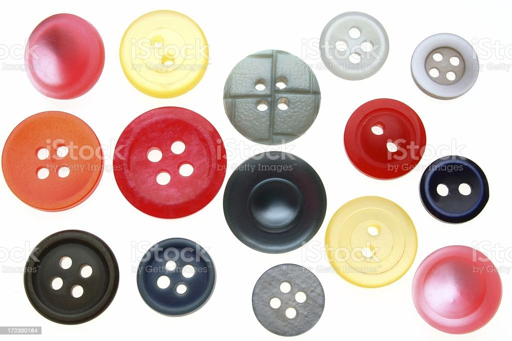 colorful buttons on white royalty-free stock photo