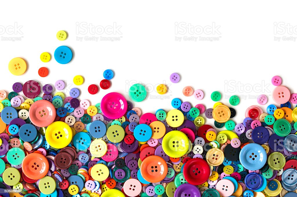 Colorful buttons stock photo