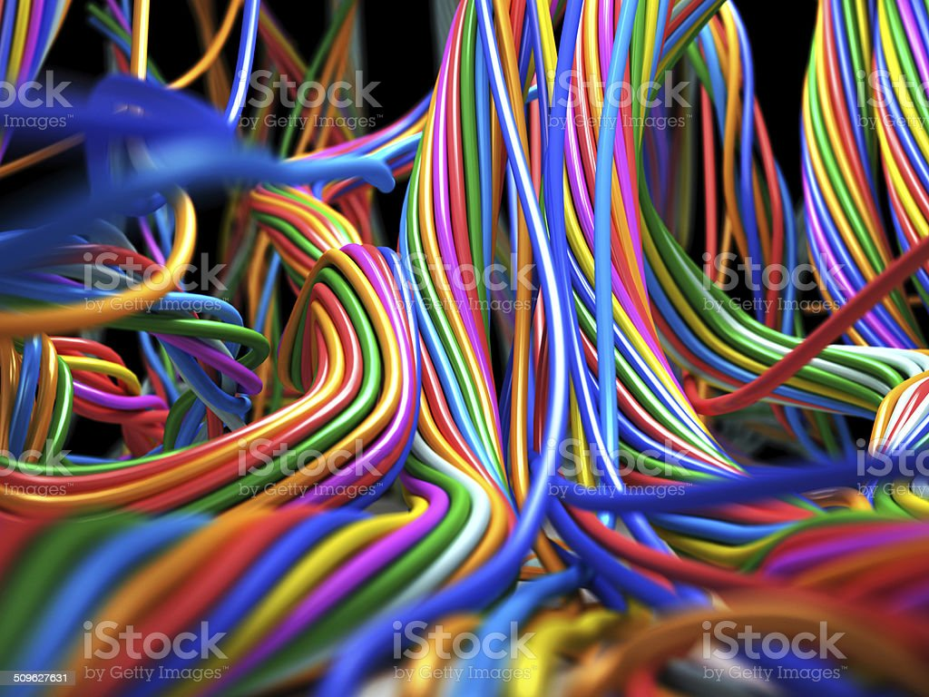 Colorful Cable stock photo