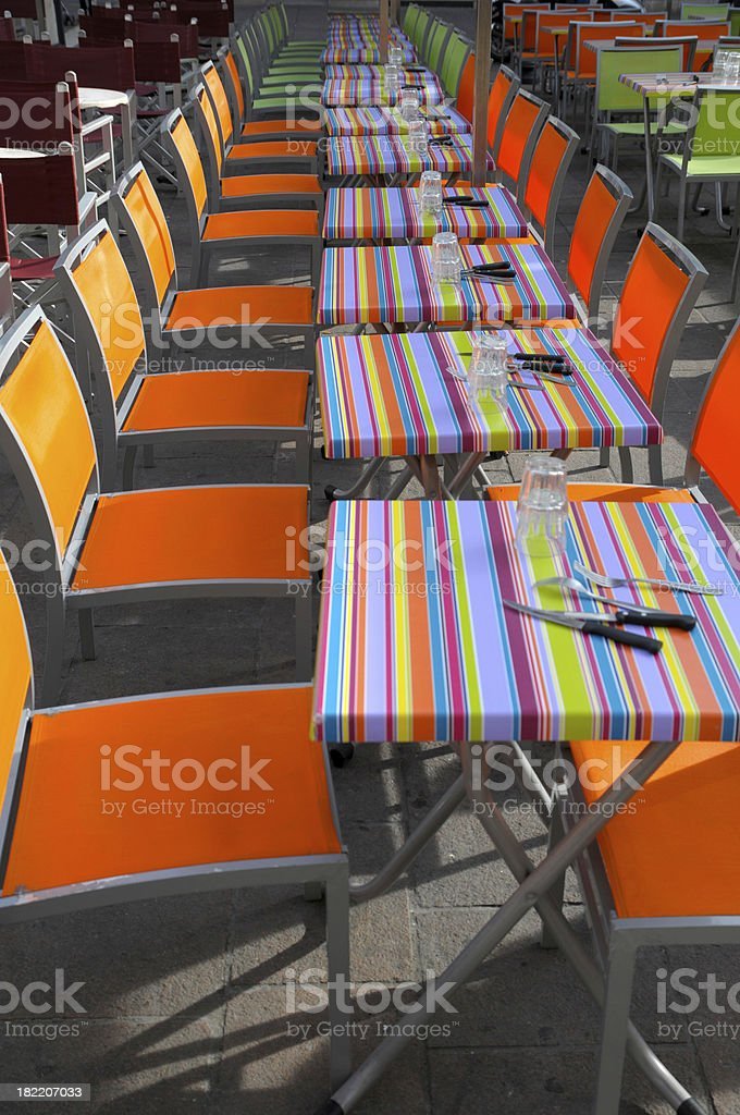 colorful cafe royalty-free stock photo