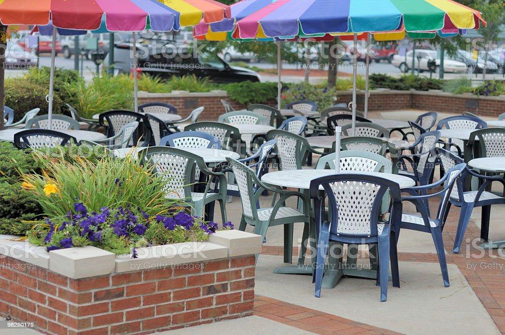 Colorful Cafe, Traverse City, Michigan stock photo