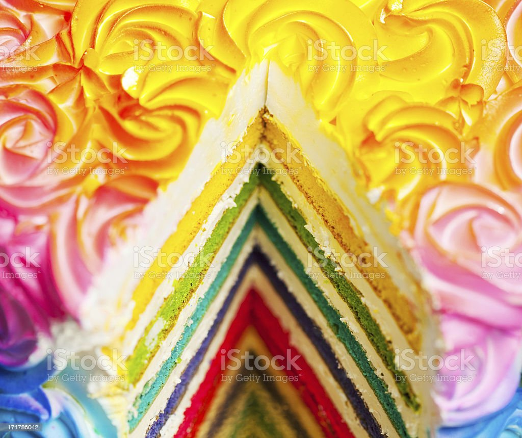 Colorful Cake royalty-free stock photo