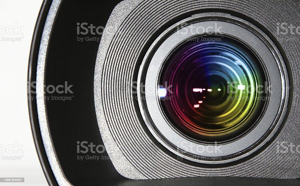 Colorful camera lens stock photo