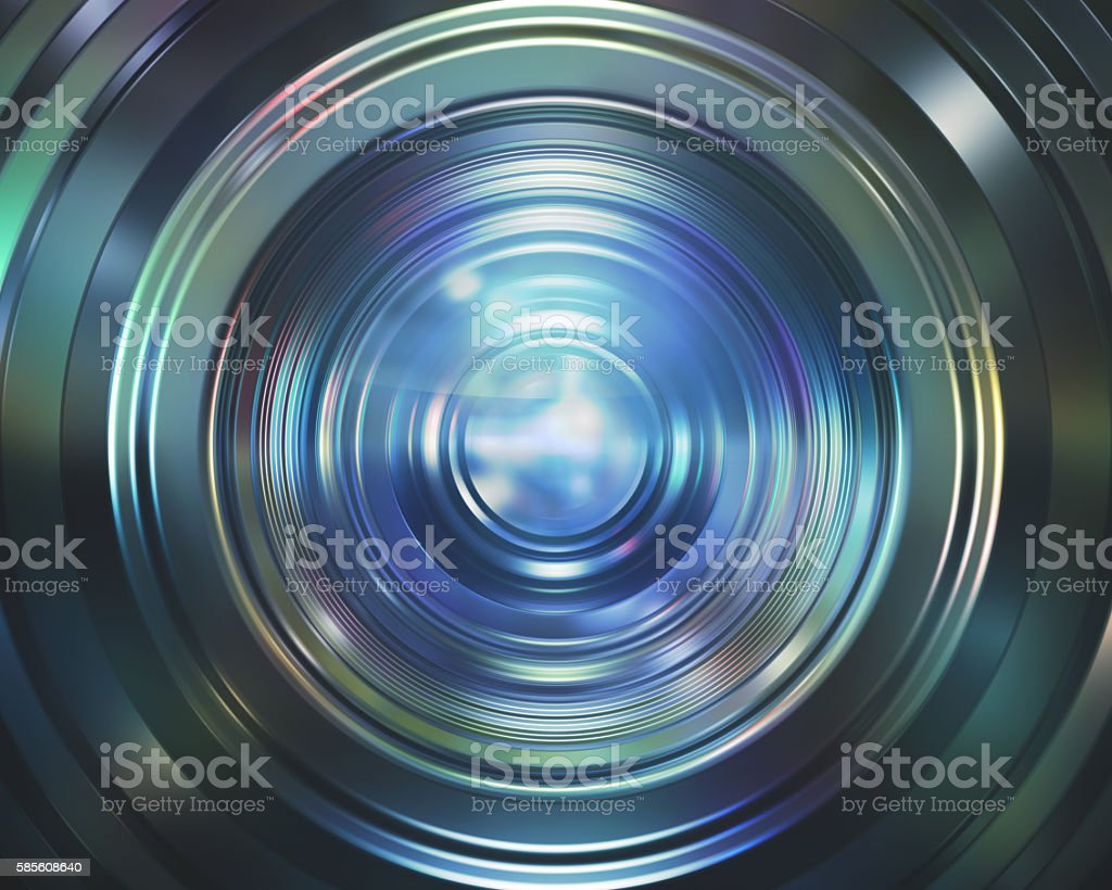 Colorful Camera Lens stock photo