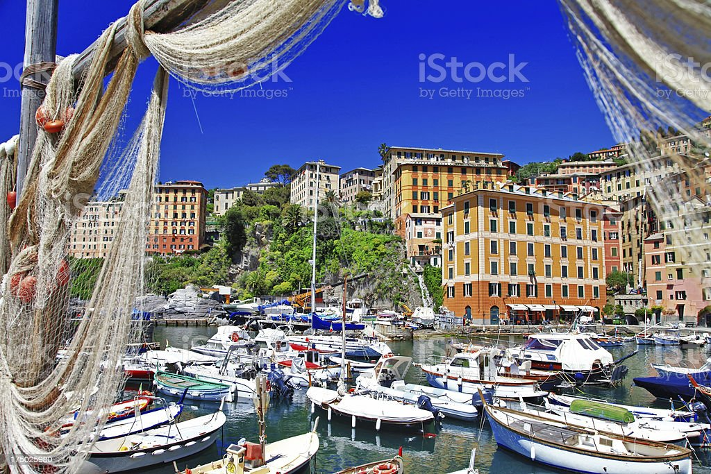colorful Camogli, Ligurian coast of Italy royalty-free stock photo