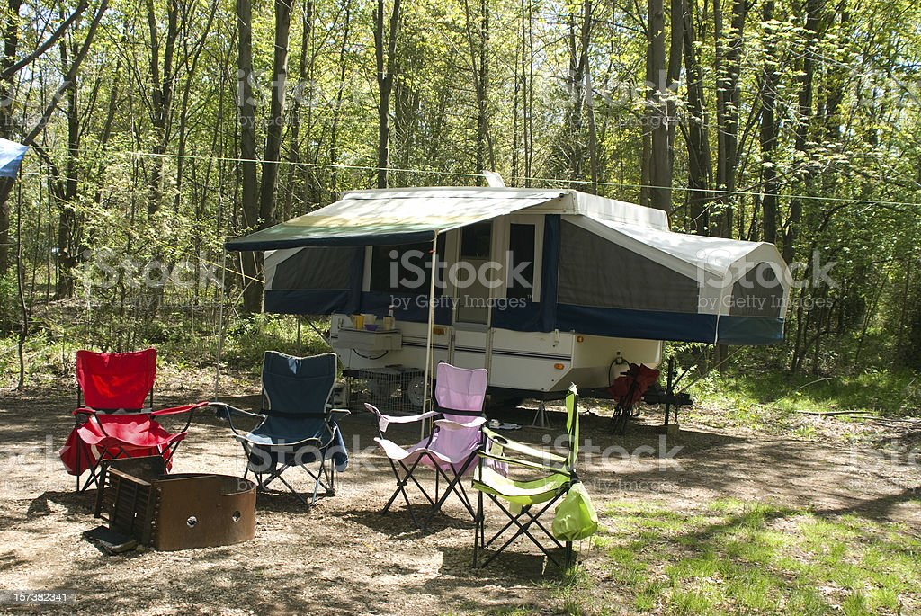 Colorful Camping Chairs royalty-free stock photo
