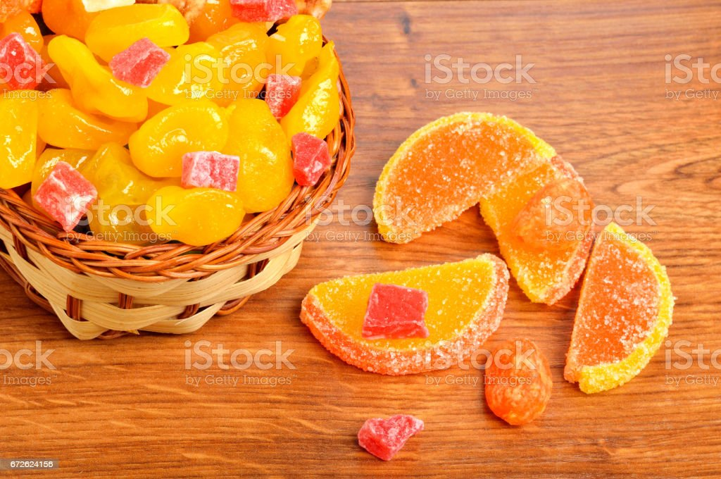 colorful candies and jellies stock photo