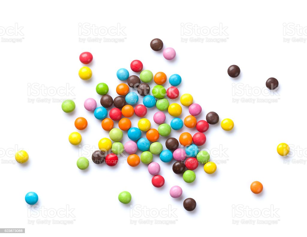 Colorful candies stock photo