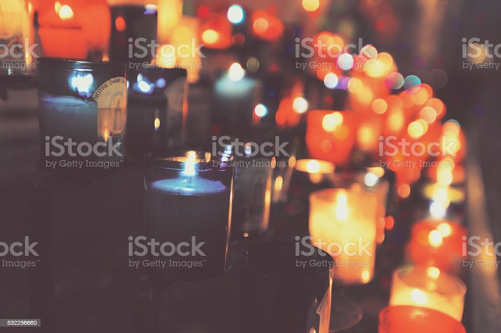 Colorful candles stock photo