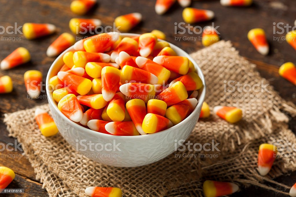 Colorful Candy Corn for Halloween stock photo