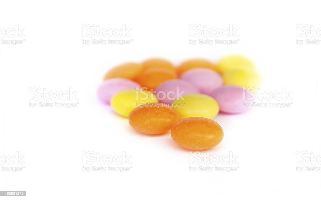 colorful candy fruity taste isolated royalty-free stock photo